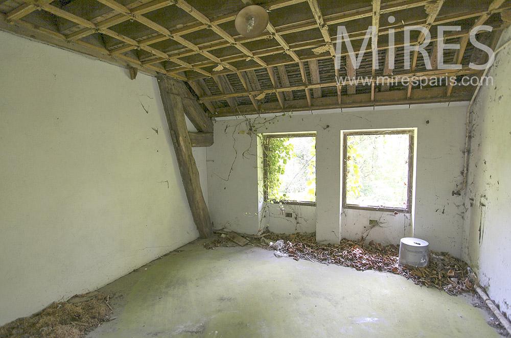 Pièces à plafond apparent. C1566