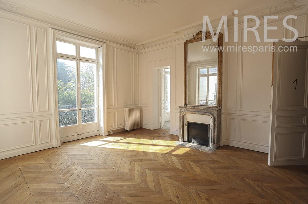 Très classique appartement parisien vide. C1564