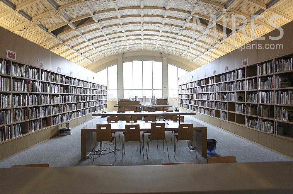 Bibliothèque en bois. C1589