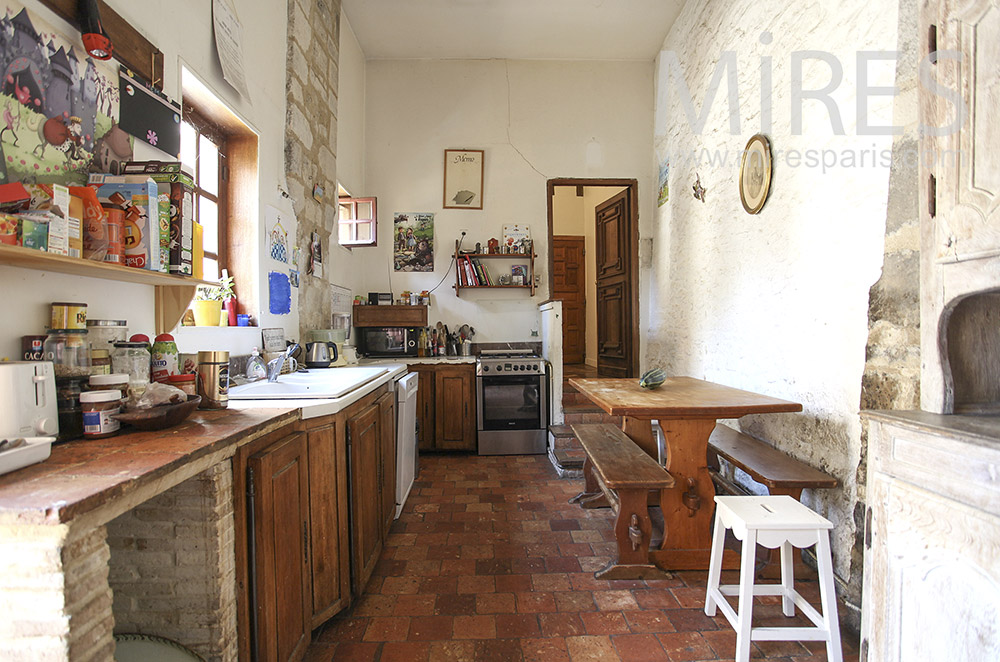 Country kitchen. C1590