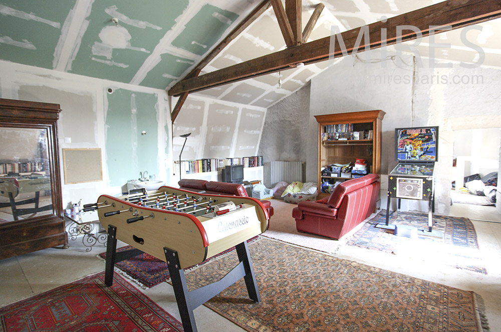 Games room in the attic. C1590