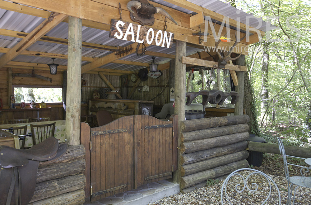 Saloon in the woods. C1596