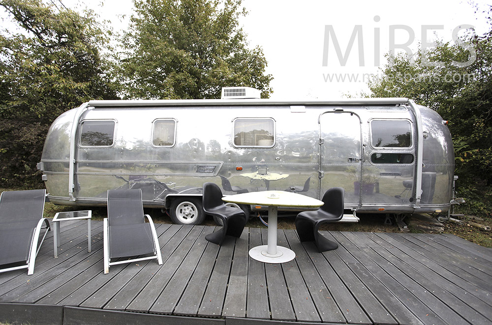 Caravane Airstream en aluminium. C1600