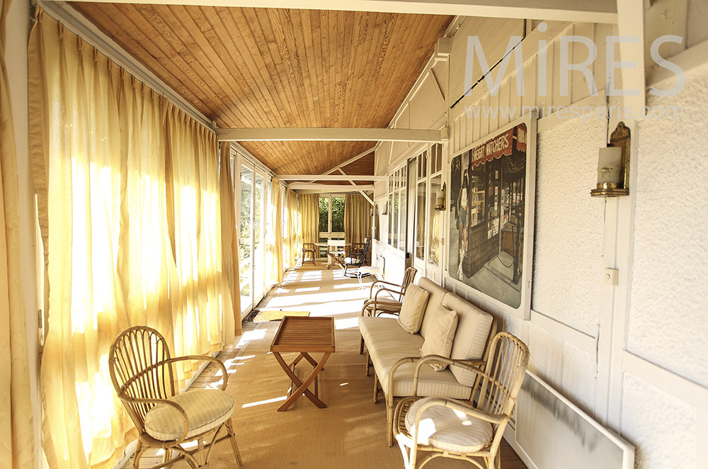 Open veranda with colonial charm. C1605
