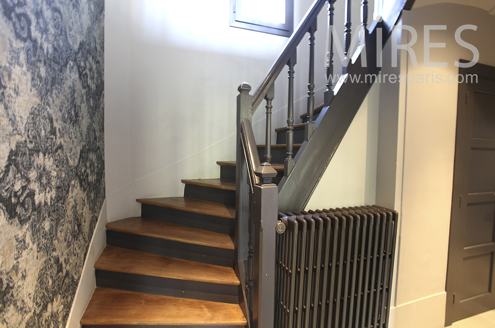 Classic wooden staircase. C1608