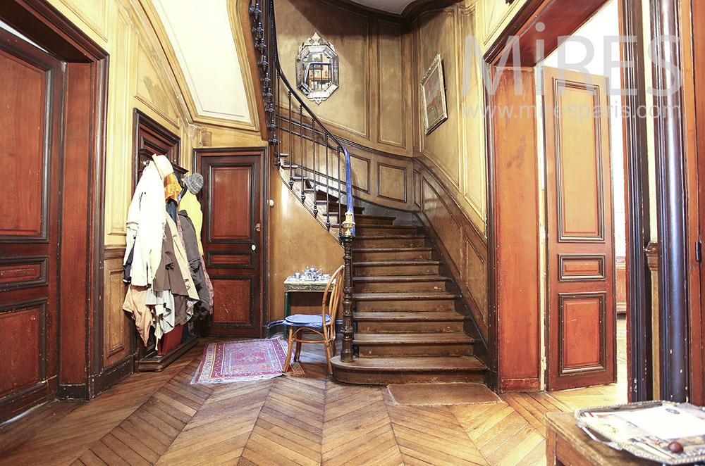 Staircase with woodwork. C0037