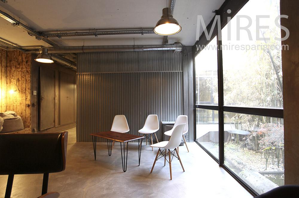 Réception d'entreprise et jardin de bambou. C1625
