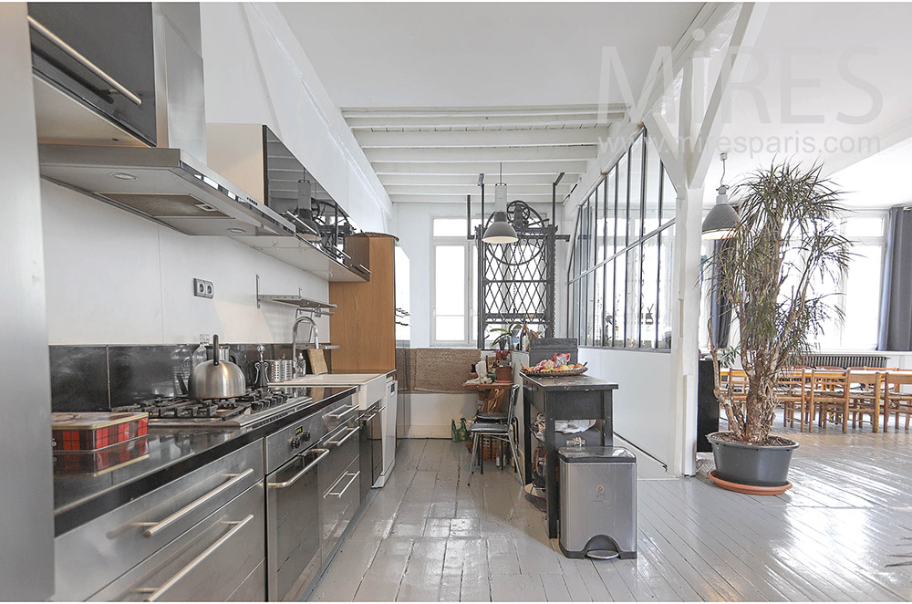 Open metal kitchen. c1644