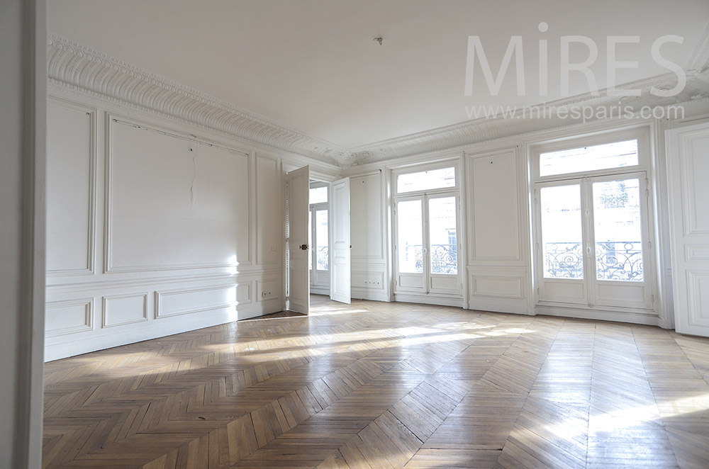 Haussmanian bright empty flat. c1655