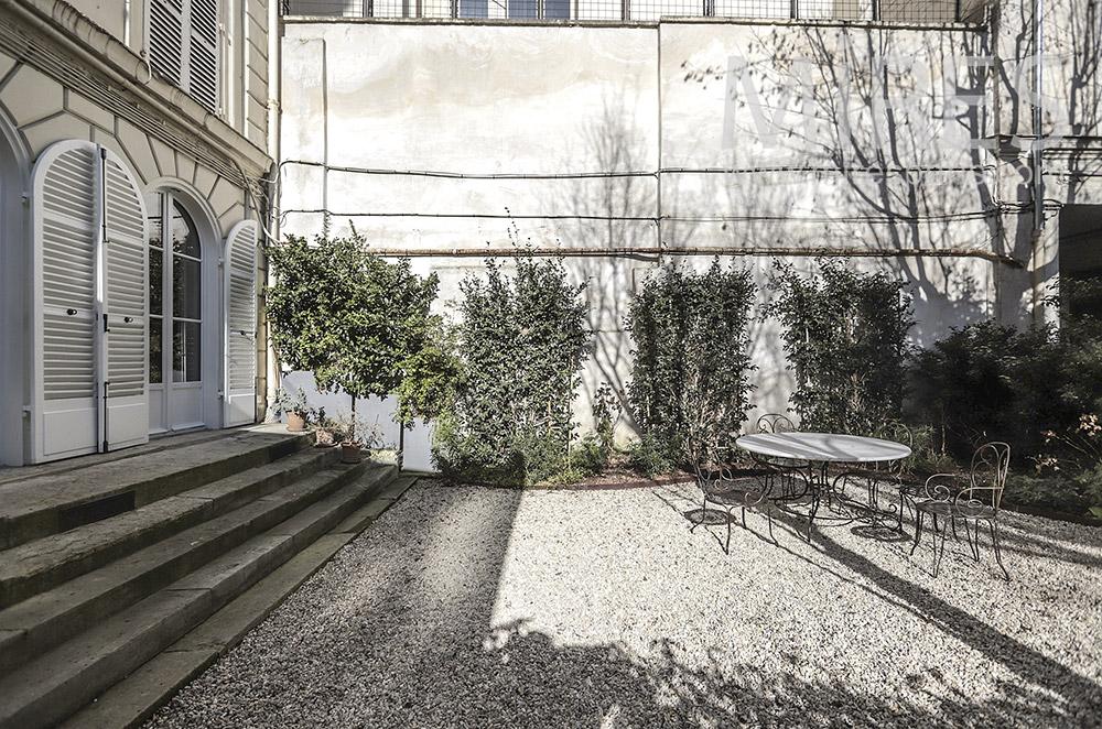 Parisian garden. c1665