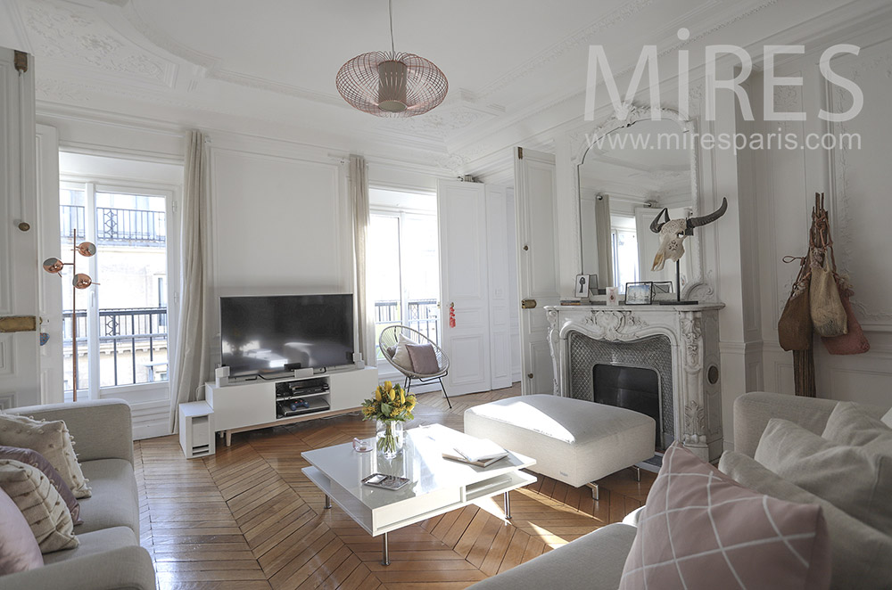Parisian white apartment. C1669