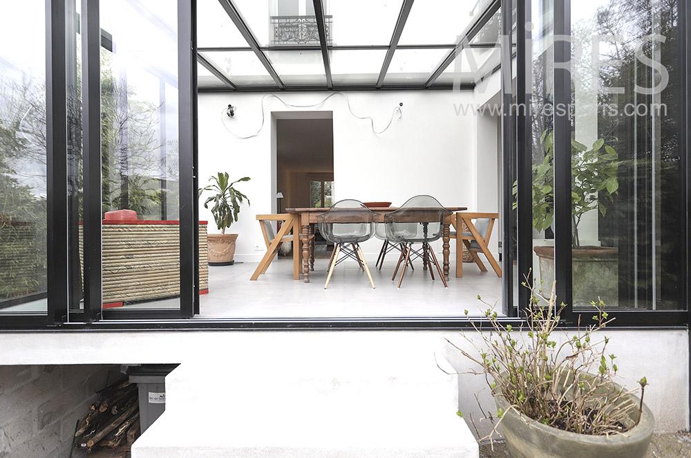 Veranda dining room. C1670