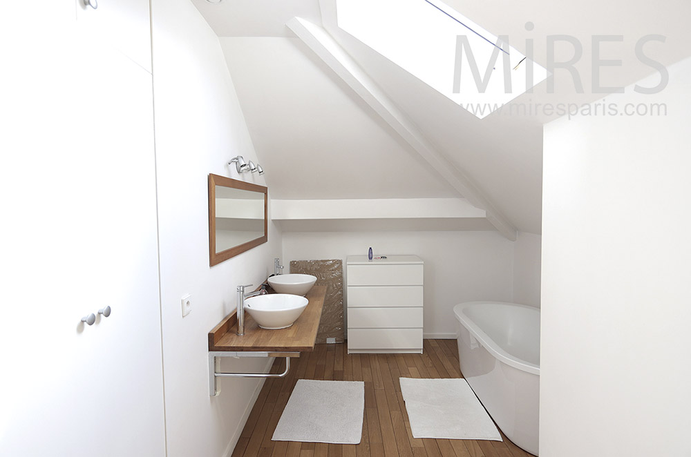 White baths in loft. C1683