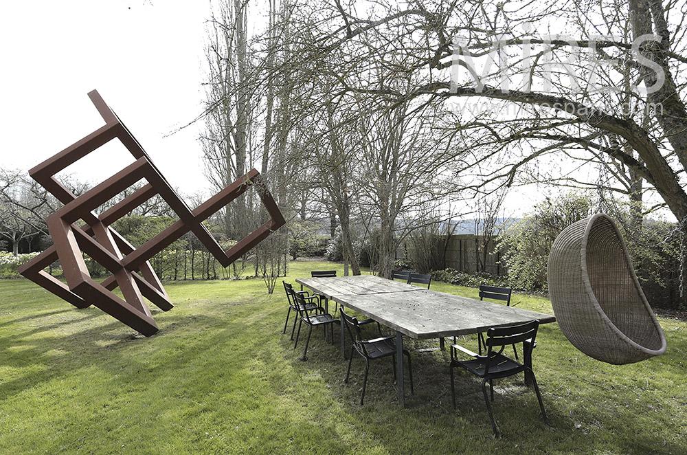 Table de jardin. C1685