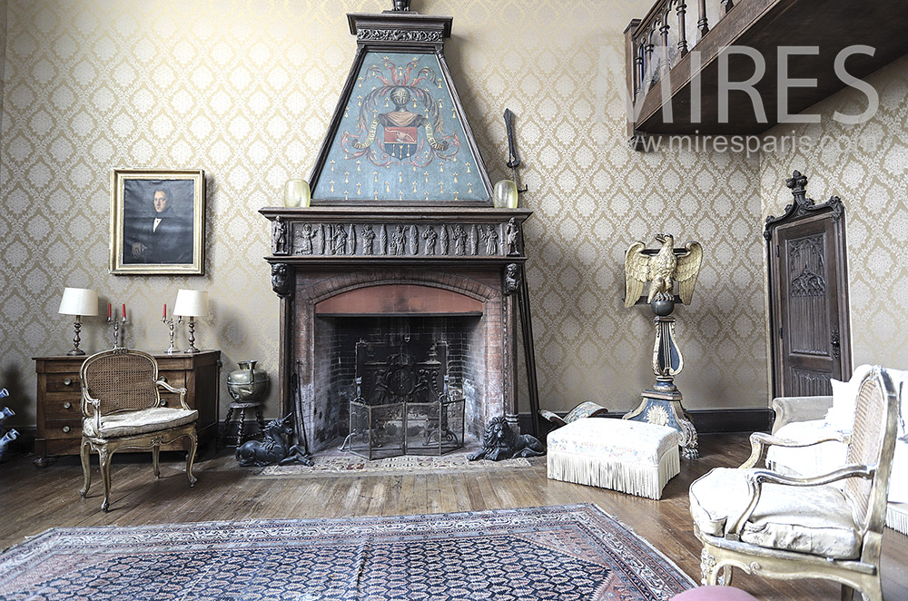 Old fireplace. C1690
