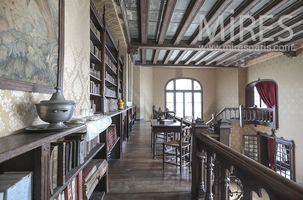 Old library in mezzanine. C1690