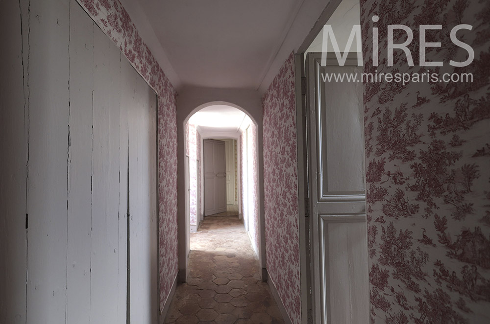 Corridors, wallpaper. C1690