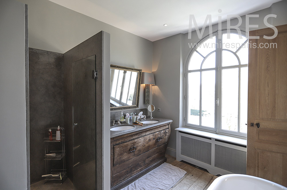 Modern and old for a bathroom. C1693