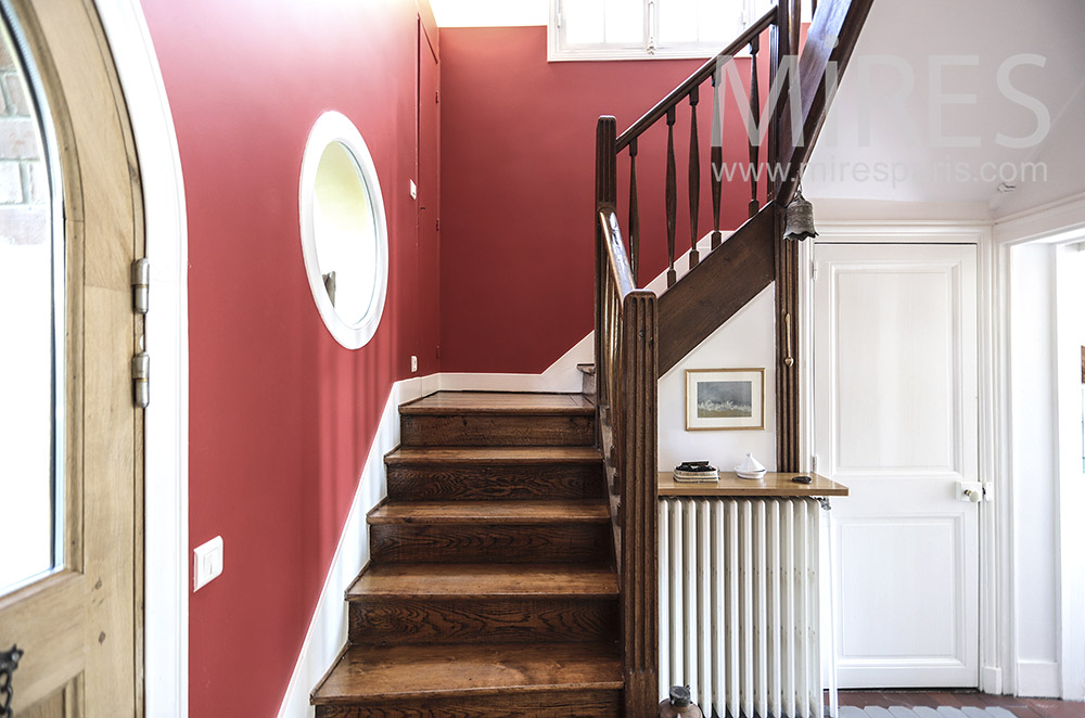 Red staircase. C1697