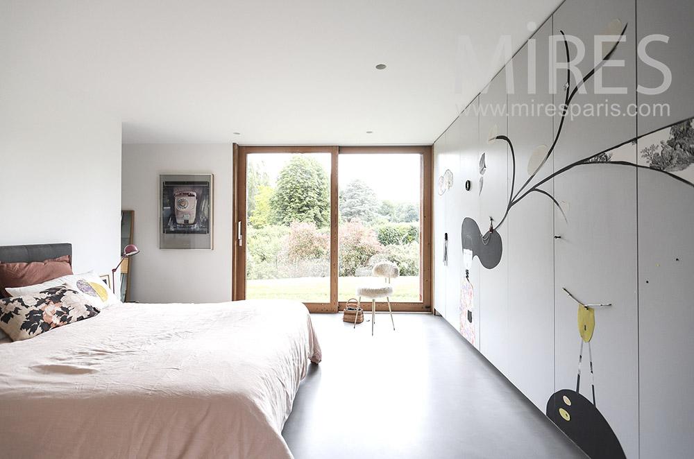 Chambre sur jardin. C1711