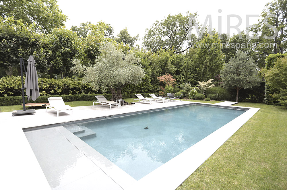 Pool in beautiful garden. C0202