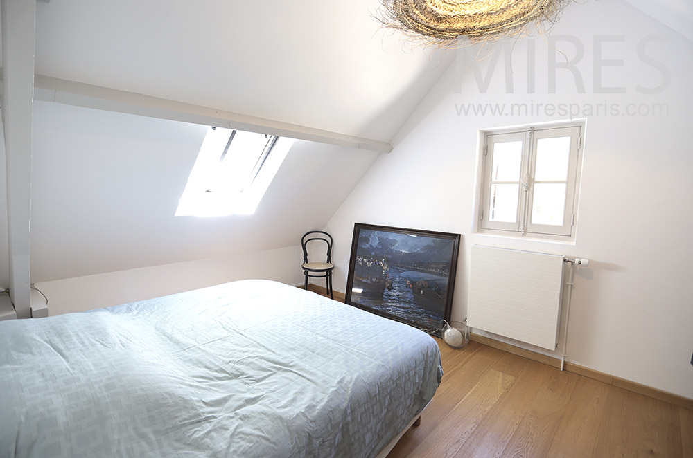 White attic room. C1726