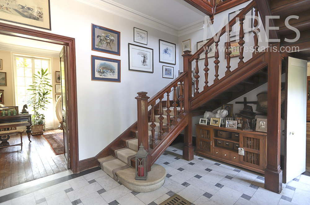 Old staircase, solid wood. C1734