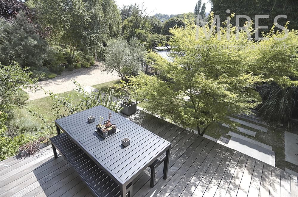 Terrasse bois en étage. C0815