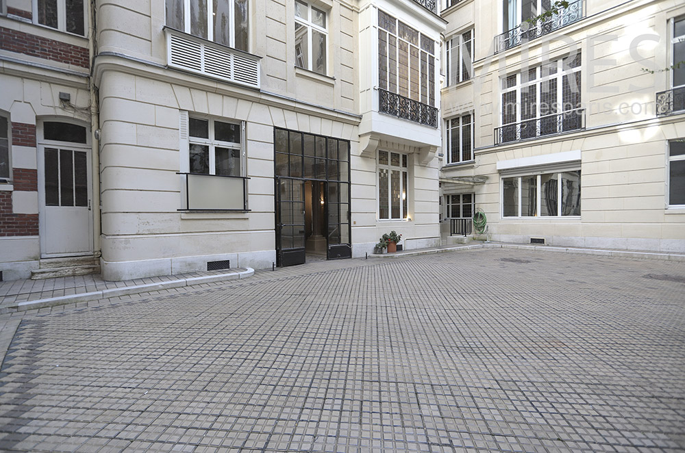 Paved courtyard. C1751