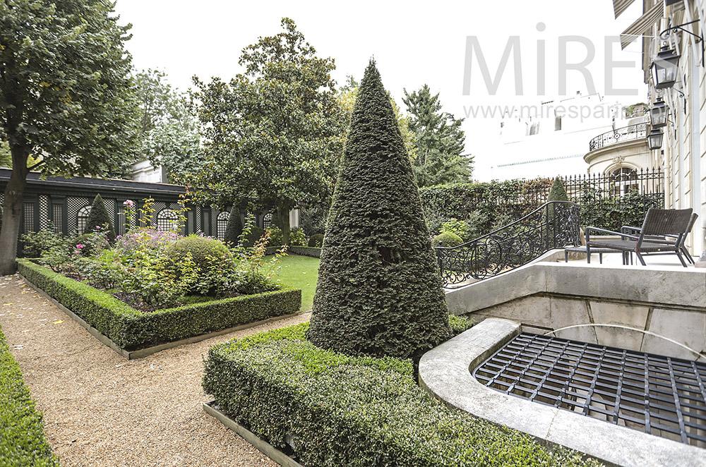 Terrace on garden. C1755