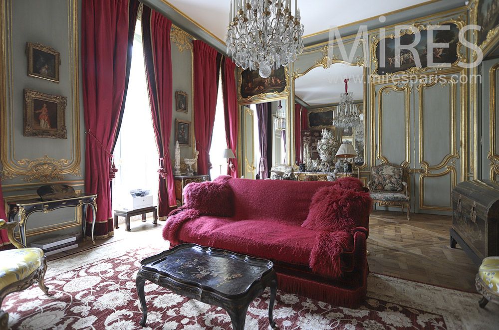 Luxurious old lounge. C1755