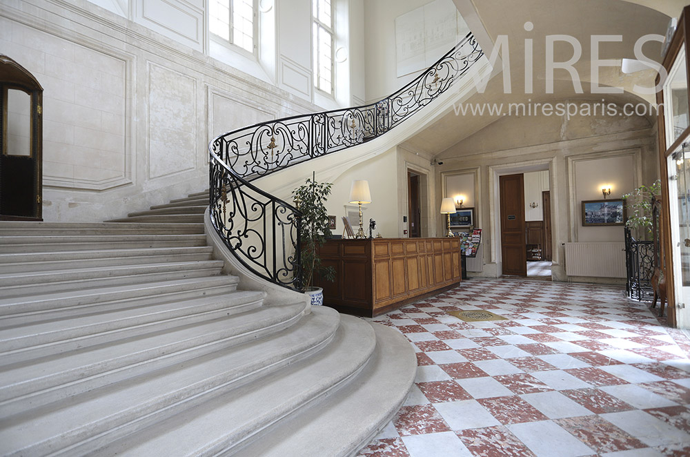 Stone staircase and wrought iron. C1763