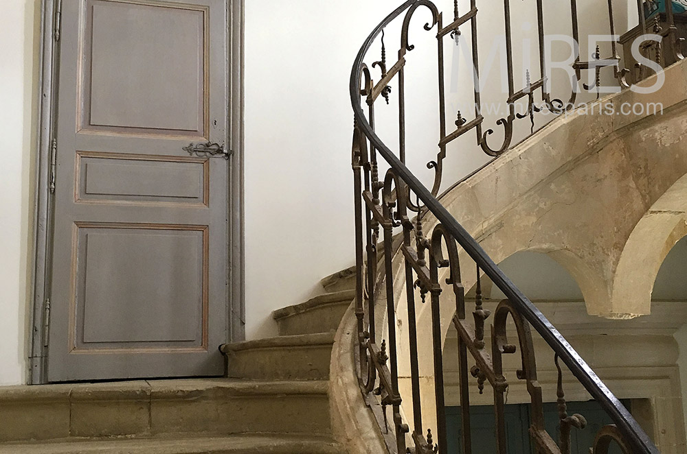Stone staircase and wrought iron. C1764
