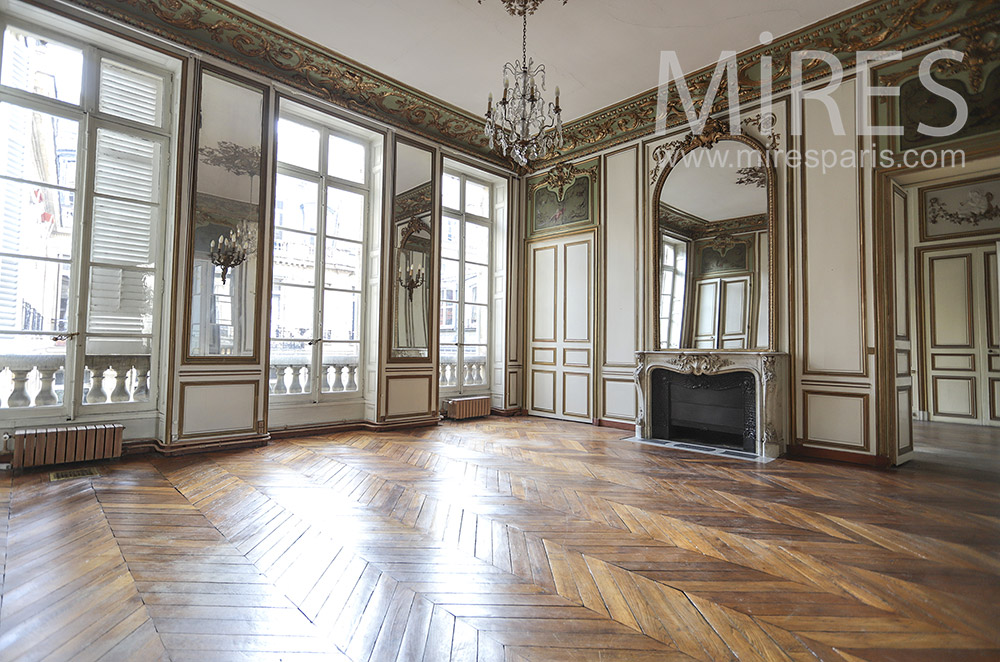 Empty Haussmanian apartment. C1782