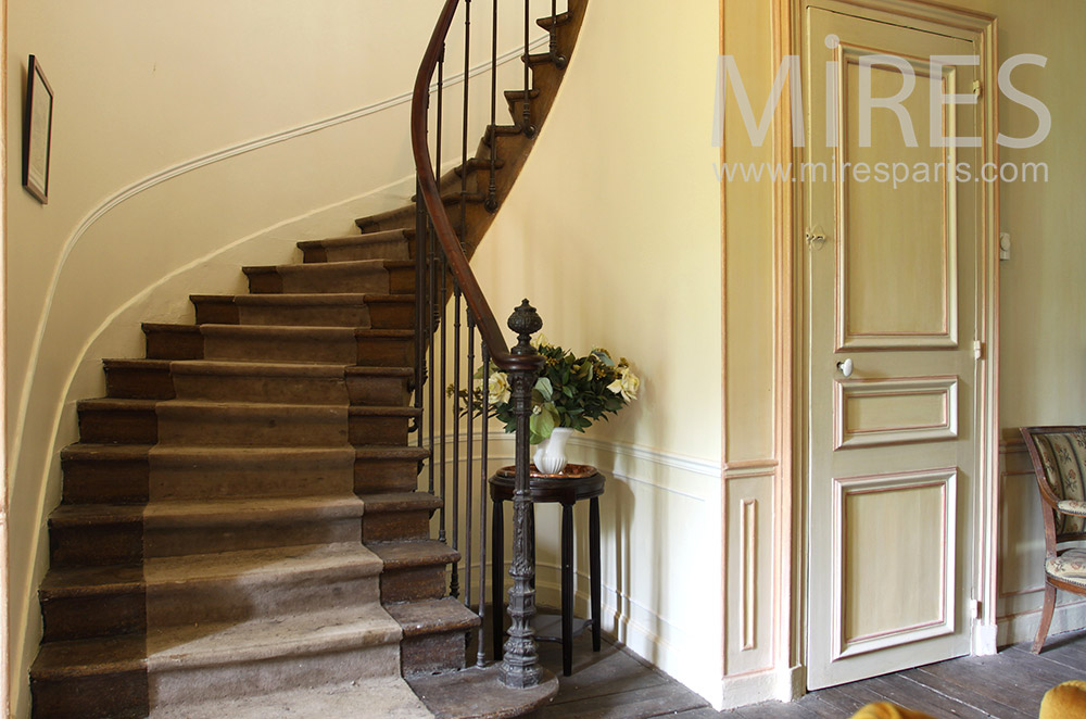Old wooden staircase. C0712