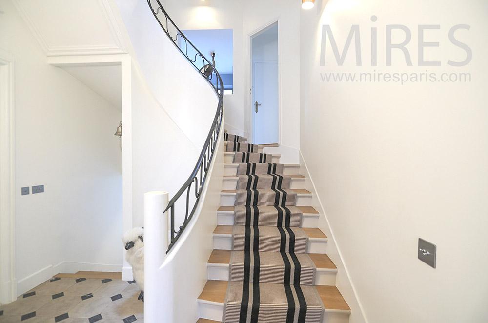 White staircase. C1773