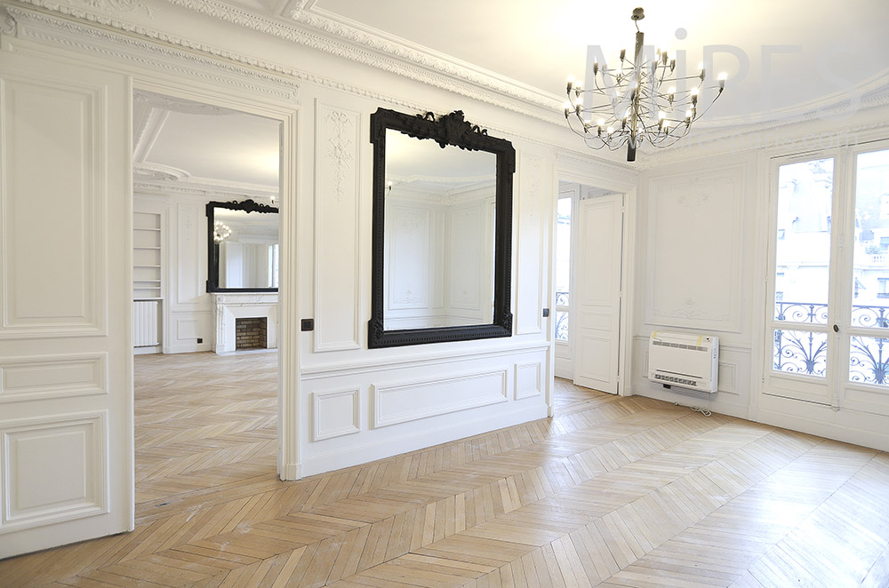 Double Haussmanian salon. C1776