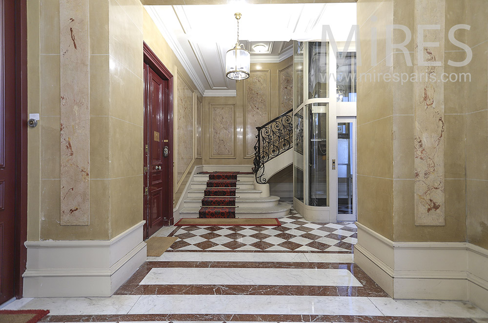 Marble entrance. C1777