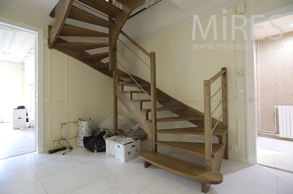 Wood staircase. C1777