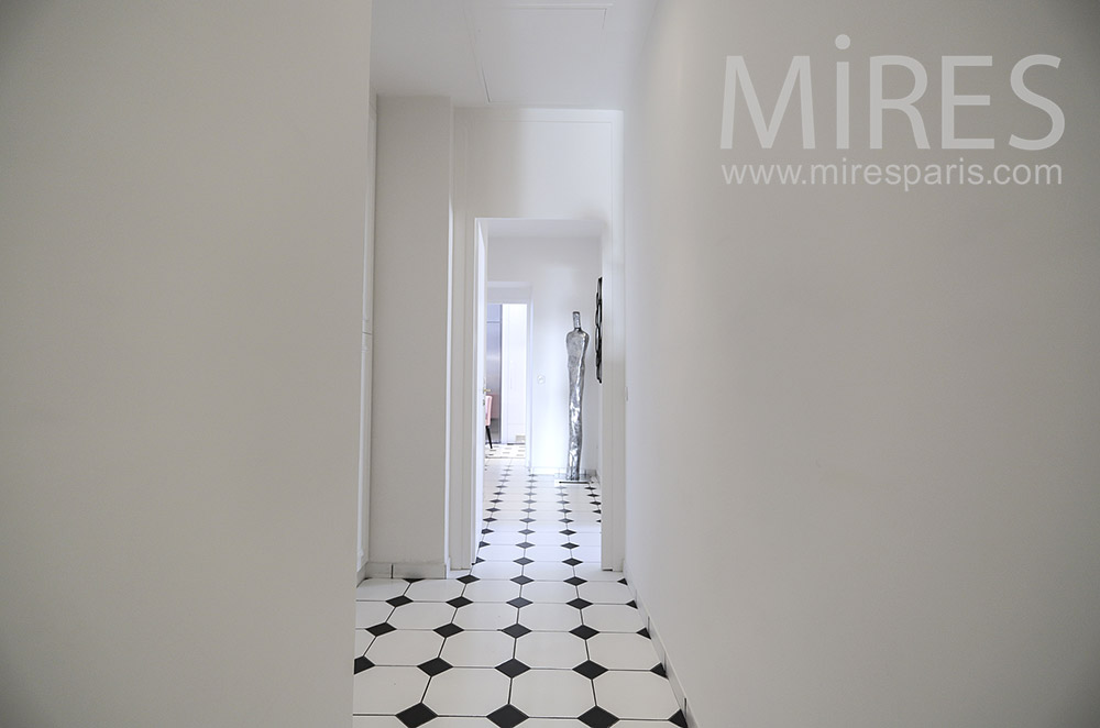 Corridors, white and black tiles. C1789