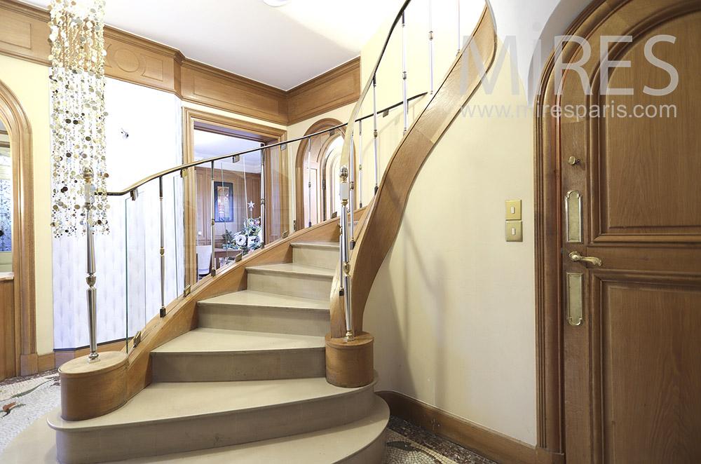 Escaliers tournants. C1798