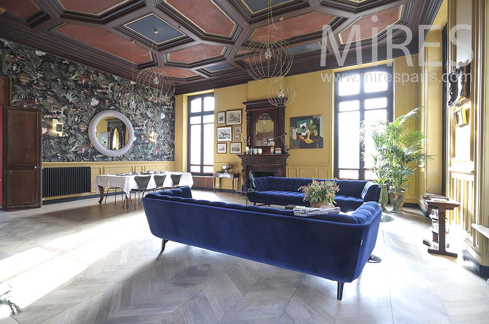 Grand salon coloré. C1805