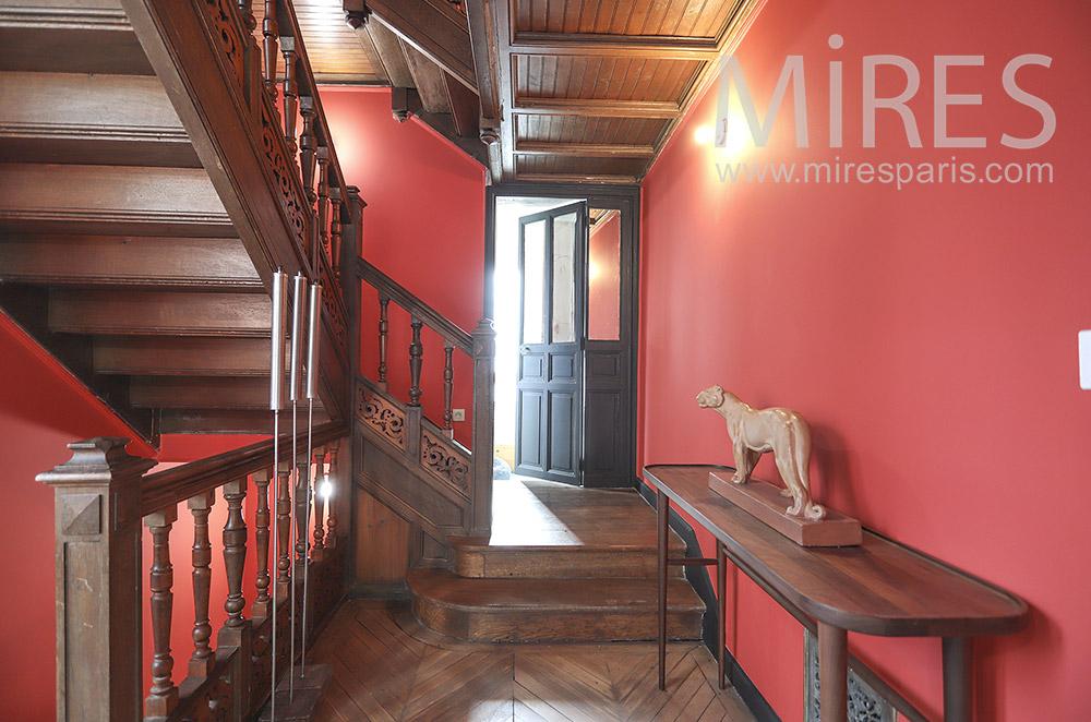 Escalier rouge. C1805