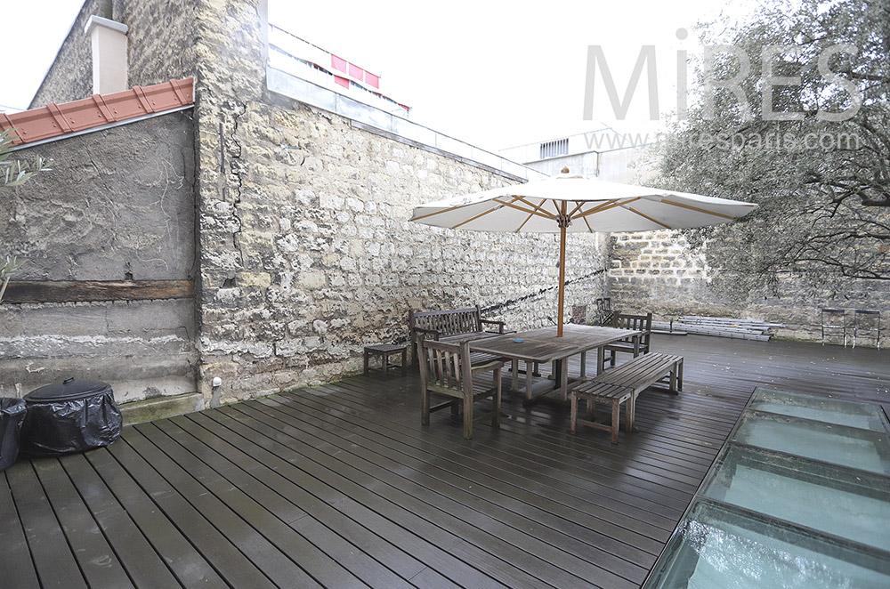 Teak terrace. C1806