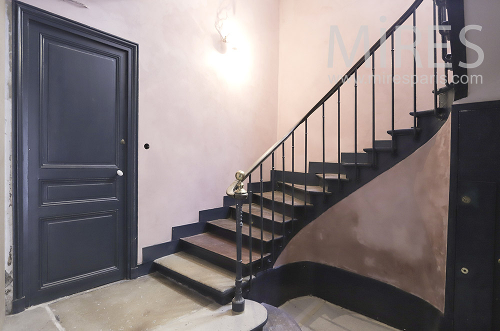Old spiral staircase. C1814