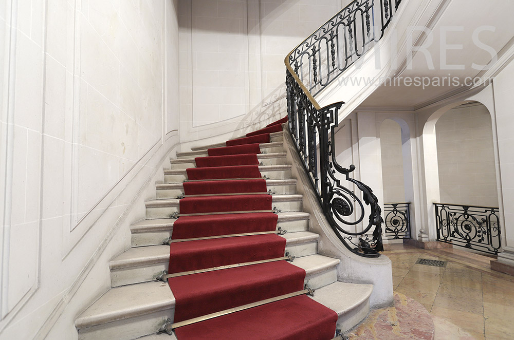 Large white staircase. C1816