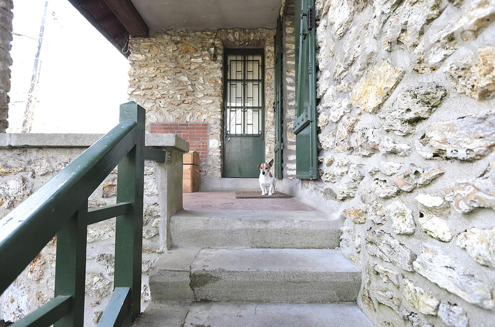 Stone entrance. C1817