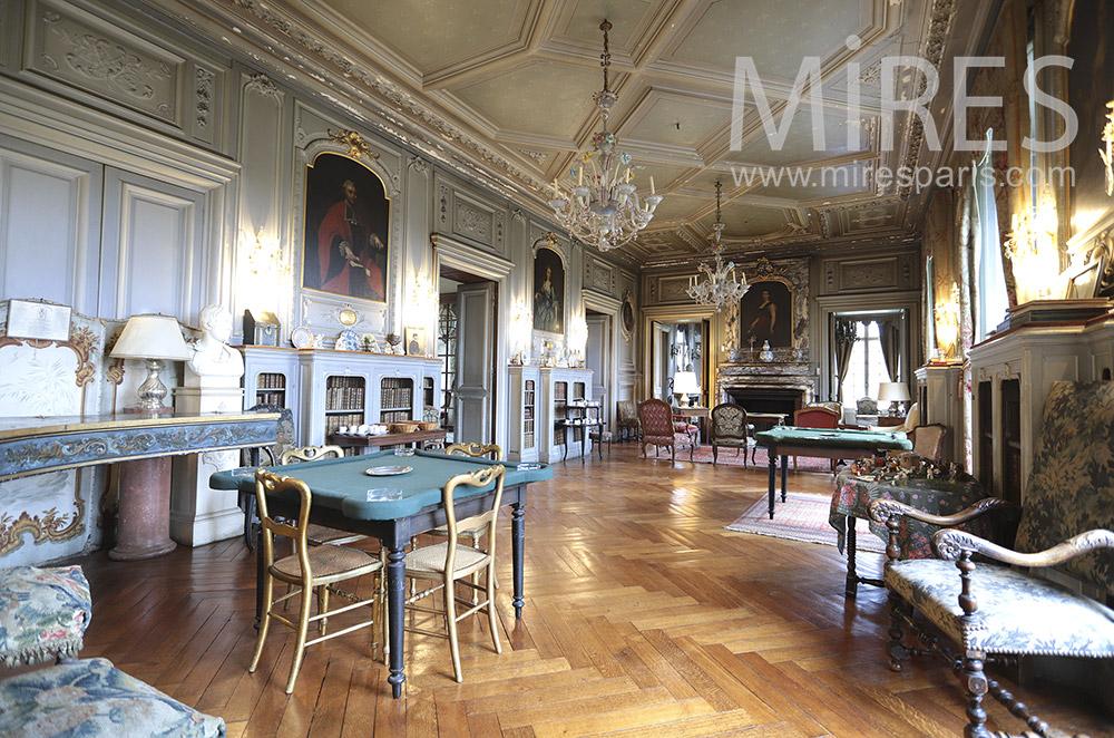 Salon de château. C1658