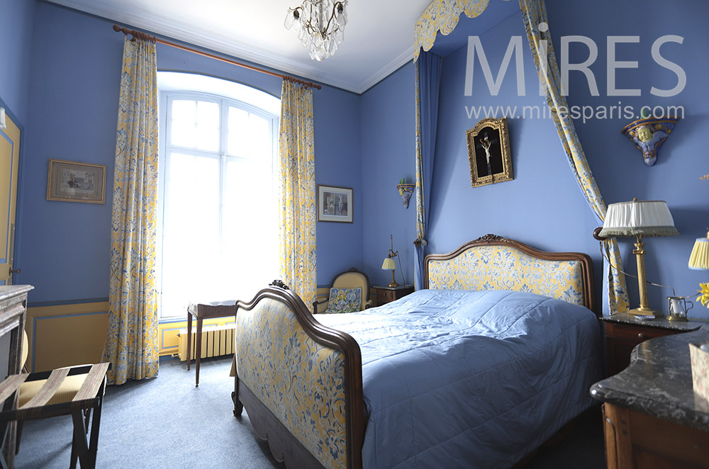Beautiful old blue room. C1658