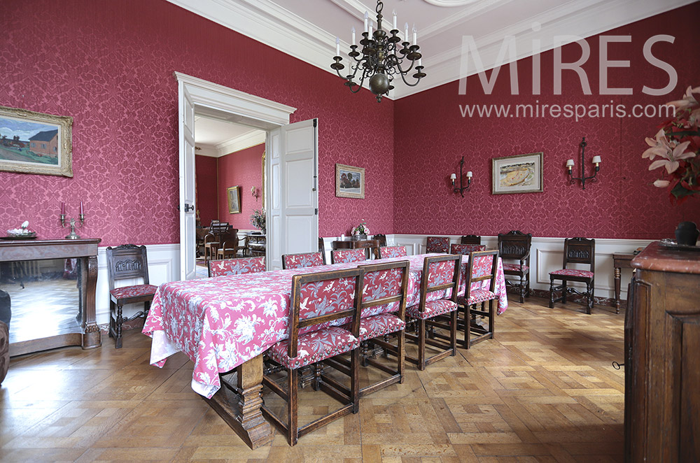 Classic red dining room. C1819